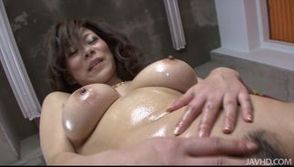 Overwhelming big breasted Ren Mizumori likes to get fucked hard from the back as well as to ride boner