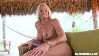 Slender Rhylee Richardson with big tits loves to suck and ride cock
