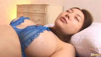 Lusty Mai Uzuki with biggest tits puts a sausage in her hot mouth