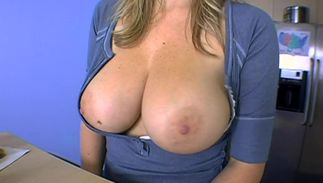Savory Sara Stone with large natural tits is insane to suck hard dink