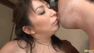 Passionate playgirl Yukari Orihara with biggest tits gives expert head to a thick pipe