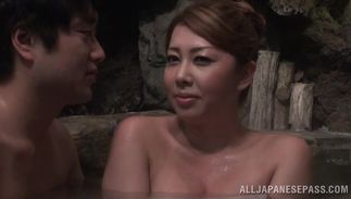 Heavenly maiden with handsome tits gets her face and tang screwed in hardcore style