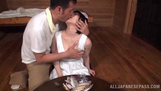 Angelic bombshell Kazari Hanasaki with big tits is always ready for some very intensive pounding