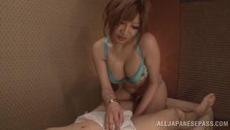 Instead of doing her job salacious bosomed Reira Akane is getting drilled