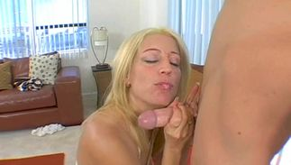 Lovely hottie Kami with curvy natural tits wants lover's thick pike in her tight cherry
