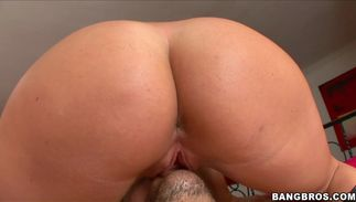 Lascivious honey Jayden Jaymes with firm natural tits reaches a huge and hard big o