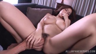 Marvelous hottie JULIA with huge tits wants to ride big tool