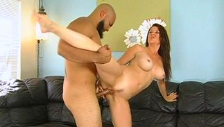 Seductive big breasted Raquel Devine has fuck session with hunk