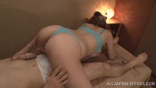 Alluring bosomed Reira Akane likes to have sex with lover