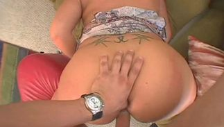 Tempting brown-haired gal with massive tits is in need of drilling