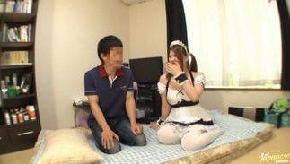 Momoka Nishina with large tits is to enticing to handle and can't live without sex