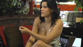 Enchanting big titted Angelina Castro is picked up by the perverted boyfriend