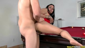 Pungent latin Ferdanda with big bra buddies is fucking a playmate while video is filming