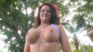 Elegant Auroura with large tits goes crazy for fat shlong