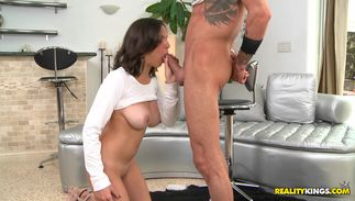 Salacious bosomed gf Shae Summers is ready for some pounding