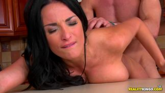 Seductive big titted Anissa Kate is for mate's erect wang