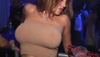 Enchanting diva Tanya James with impressive tits was concerned to begin fucking this bf