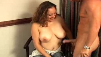 Meat loving mesmerizing busty Joy knows how to begin a day with buddy in the most good way ever